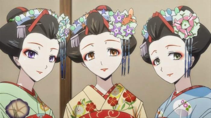 Три ученицы Мицунаво / Mitsuwano категория ~ аниме 2014 года