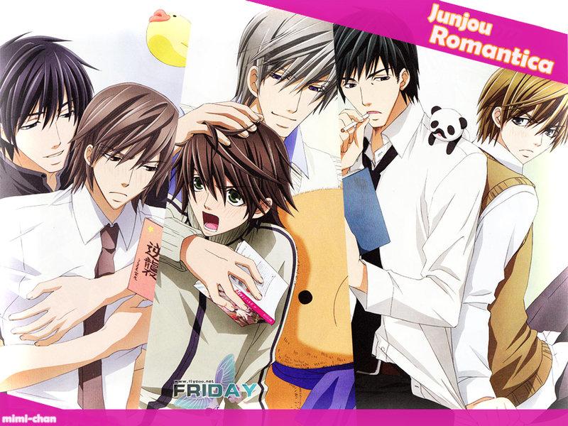 Чистая романтика 1,2 сезон + OVA / Junjou Romantica 1,2 + OVA категория ~ аниме 2008 года